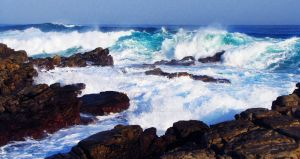 Cape St Francis 3- Winter Waves 2 by AniaBuckle