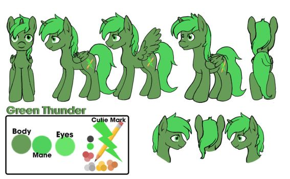 Green Thunder Reference Sheet 2.0 by blaa6
