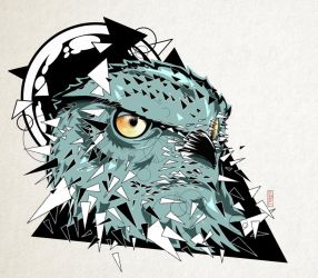 Triangle Owl by Amacdesigns