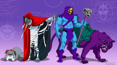 Mumm-Ra and Skeletor by MikeBock