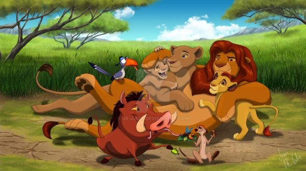 VIDEO The Lion King - We Are Family SPEED PAINTING by JR-Julia