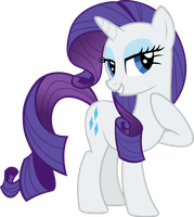Rarity Vector by AlmostFictional