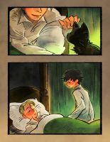 Share the bed with cat harry. by huanGH64