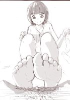 (Sketch) Yasuha's feet by Iodain