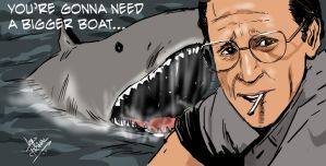 Epic scene from Jaws by mrinal-rai