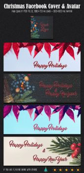 Free Christmas And New Year Facebook Cover Avatar by creativewhoa