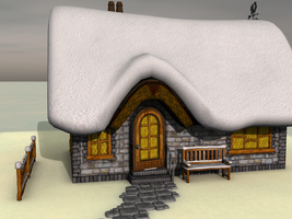 Winter Cottage by Realmgal