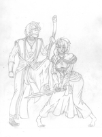 Heroes of a Mad Age (Rough Sketch) by Pbuckley