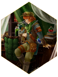 Commission : Calem the Artificer by Sorelliena