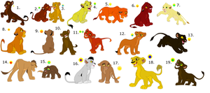 FREE !!!!!!!!!!!!!!!!! lion cub adoptables 3 by knowitall123-adopts