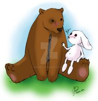 Bear and Bunny by HRandt