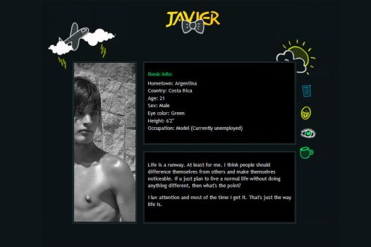Javi's Myspace by lillyanka
