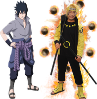 Naruto and Sasuke by ducmu