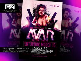 Special Guest DJ Event Flyer Template PSD by pawlowskiart
