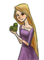 Rapunzel and Pascal by Atlantistel