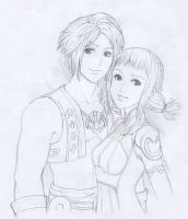 FF12's Vaan and Penelo by gndagnor