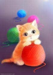 Kitten and skein by acory