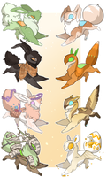 Spring Mothpup Adopts: OPEN by Pirate-Reaper
