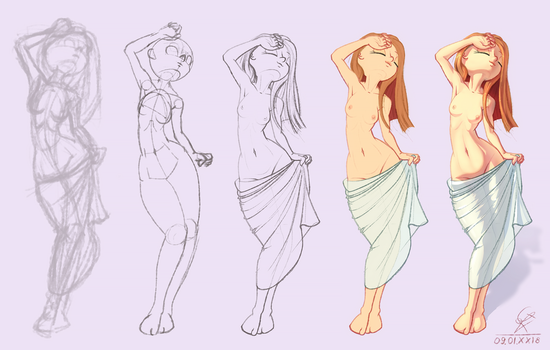 All steps figure practice by mrGoK