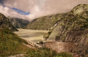 Dam on the Top of the Mountains by ondrejZapletal
