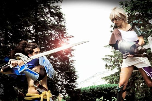 Legendary Fight_Riven and Yasuo by FairyScarlet