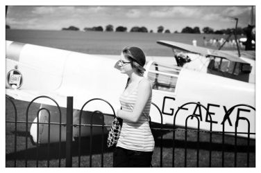 Katie and Plane by masternoname