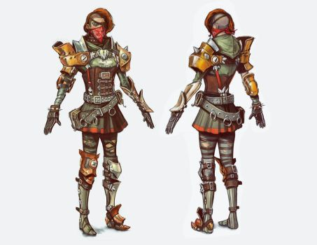 Costume Concept - Punk Gunner Female by musegames