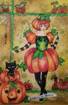 Pumpkin Girl by LindyvandenBosch