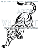 Prowling Panther Tribal Design by WildSpiritWolf