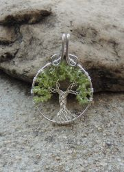 Celtic Tree of Life with Peridots *SOLD* by SerenityWireDesigns