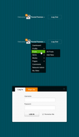 Menu For Logged In Users And Log In Box by softarea