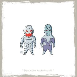 Little Friends - Ultron and Brainiac by darrenrawlings