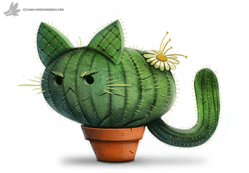 Daily Painting #854. Catcus by Cryptid-Creations