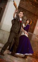 Booker and Elizabeth - Bioshock Infinite by Shirokii