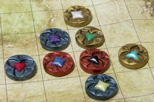 Handmade Board Game Pieces by JSmallDragon