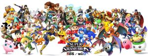Super Smash Bros Roster by mcsparklz