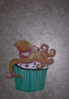 Octopus Cupcake Holiday by askoi
