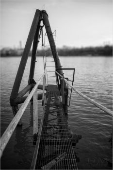 Mangled Ladder At The End Of The Pier by mastermayhem