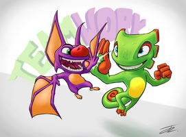 Yooka and Laylee by ToasterRepairUnit