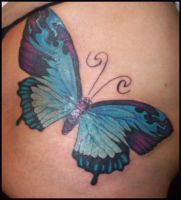 Butterfly tattoos by hellcatmolly