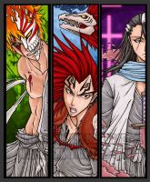 Bleach Bookmark Set 1 by RizyuKaizen