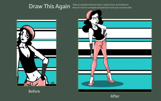 Draw This Again Contest - Pink Pants by moonie