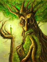 Treebeard sketch card by BrentWoodside