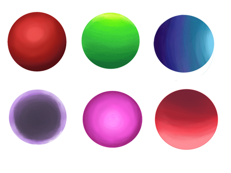 Blending practice with balls by TurquoiseThought