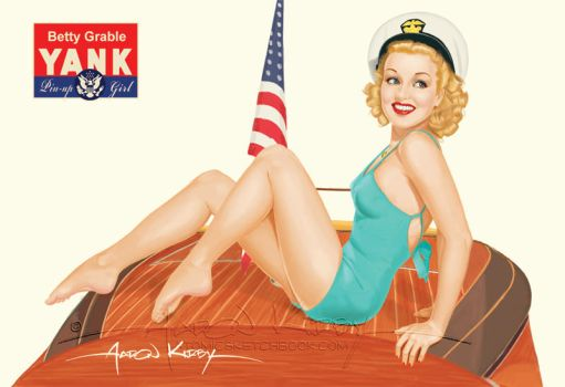 Betty Grable by Aaron Kirby by AtomicKirby
