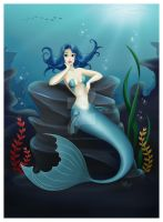 Jessica Mermaid: Commission by madmoiselleclau