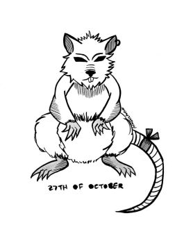 Inktober and Drawlloween #27: RAT by naiveplant