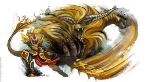 Monster Hunter Rajang by TheOneWithBear