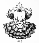 Inktober #1: Pennywise by TheCoonDog
