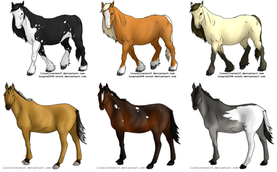 OPEN 2 Left Horse Adopts by lionsilverwolf